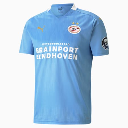 Maglia da calcio PSV Eindhoven Away Replica uomo, Team Light Blue-Puma White, small