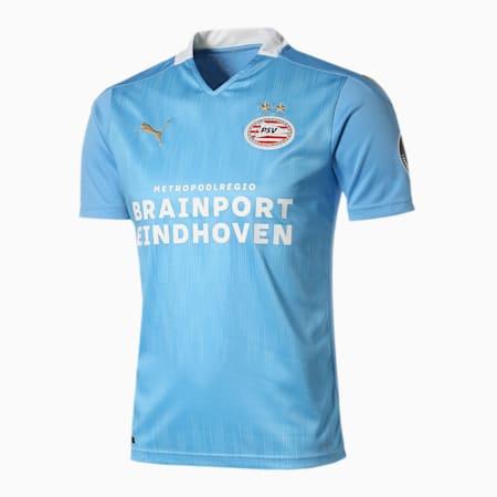 PSV アイントホーフェン アウェイ 半袖 レプリカ シャツ, Team Light Blue-Puma White, small-JPN