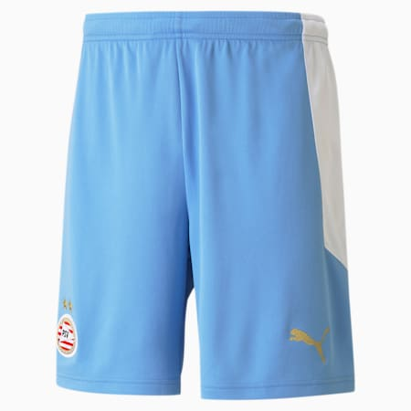 PSV Eindhoven Away Replica Men's Football Shorts, Team Light Blue-Puma White, small