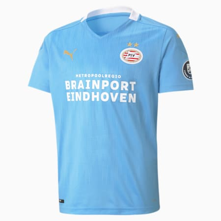 Młodzieżowa replika koszulki wyjazdowej PSV Eindhoven, Team Light Blue-Puma White, small