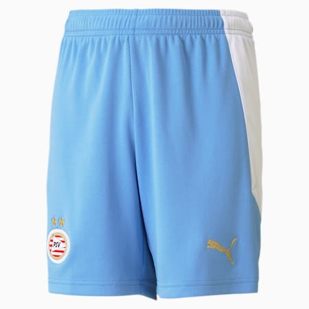 PSV Eindhoven Away Replica Youth Football Shorts, Team Light Blue-Puma White, small