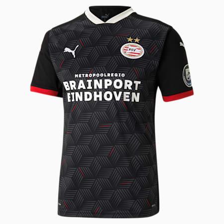Męska replika trzeciej koszulki PSV Eindhoven, Puma Black-High Risk Red, small