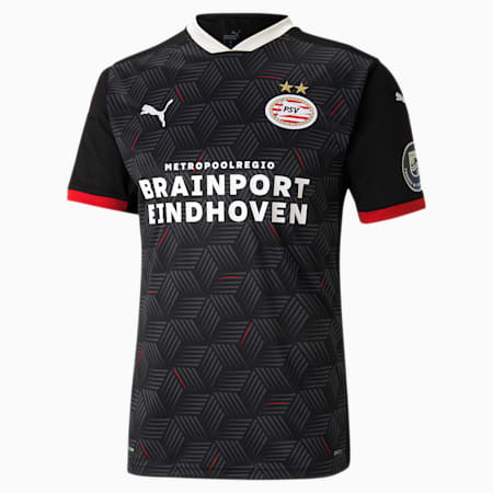 PSV Eindhoven Third Replica Men's Jersey, Puma Black-High Risk Red, small