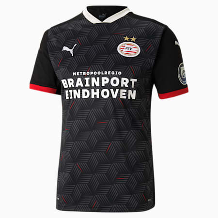 PSV Eindhoven Third Replica Men's Jersey, Puma Black-High Risk Red, small-GBR