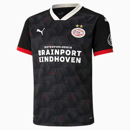PSV Eindhoven Third Replica Youth Jersey, Puma Black-High Risk Red, small
