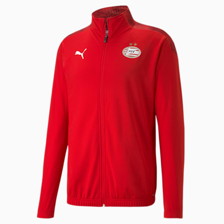 PSV Eindhoven Stadium Men's Football Jacket, High Risk Red-Puma Red, small