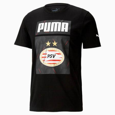 PSV Eindhoven ftblCORE Graphic Men's Football Tee, Puma Black, small