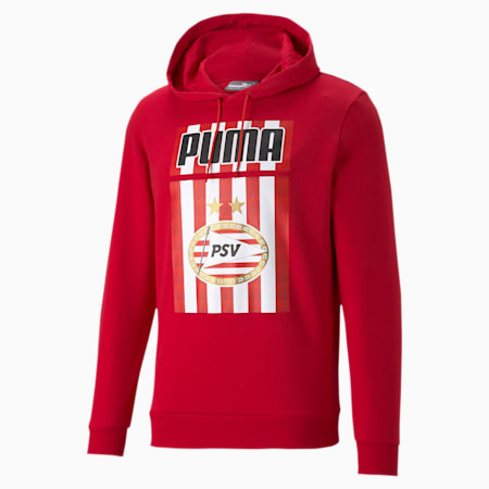 PSV Eindhoven ftblCORE Herren Fußball Hoodie, High Risk Red, small