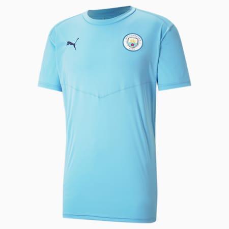 Manchester City FC Men's Warm Up Tee, Team Light Blue-Peacoat, small-GBR