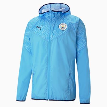 Manchester City FC Men's Warm Up Jacket, Team Light Blue-Peacoat, small-GBR