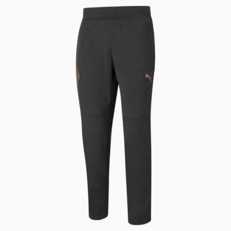 Męskie spodnie piłkarskie Man City Warm-Up, Puma Black Heather-Copper, small