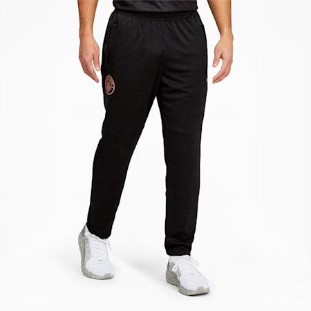 Pantalones para calentamiento Manchester City FC para hombre, Puma Black Heather-Copper, pequeño