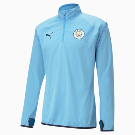Man City Warm-Up Men's Football Midlayer, Team Light Blue-Peacoat, small-GBR