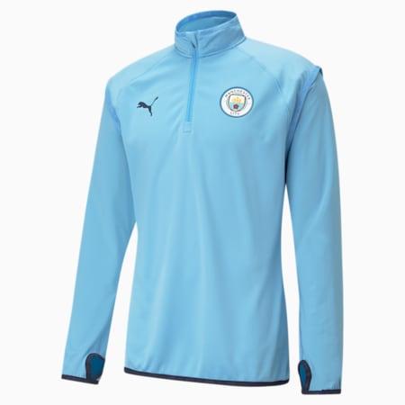 Man City Warm-Up Men's Football Midlayer, Team Light Blue-Peacoat, small-IND