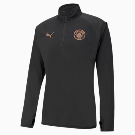 Man City Warm-Up Herren Fußball-Midlayer, Puma Black-Copper, small
