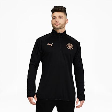 Chaqueta para calentamiento Manchester City FC para hombre, Puma Black-Copper, pequeño