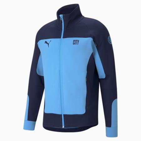 Man City Evostripe Men's Football Jacket, Team Light Blue-Peacoat, small
