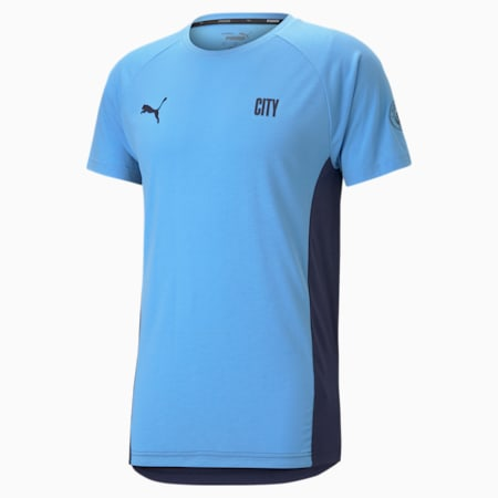 Man City Evostripe Men's Football Tee, Team Light Blue-Peacoat, small-GBR