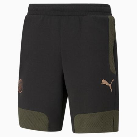 Manchester City FC Evostripe Men's Shorts, Cotton Black-Forest Night, small