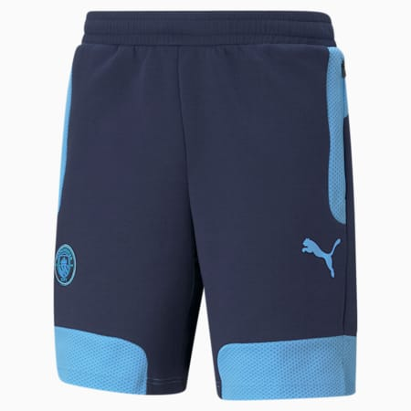 Man City Evostripe Men's Football Shorts, Peacoat-Team Light Blue, small-GBR