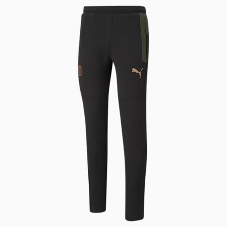 Manchester City FC Evostripe Men's Pants, Cotton Black-Forest Night, small