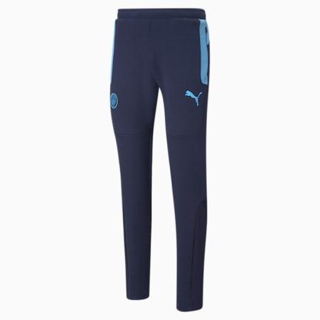 Man City Evostripe Men's Football Pants, Peacoat-Team Light Blue, small