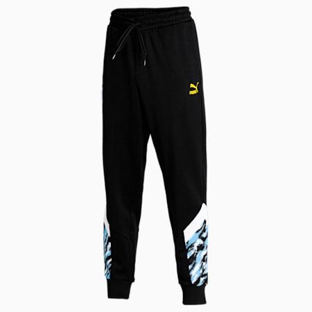 Man City Iconic MCS Men's Football Track Pants, Puma Black-Spectra Yellow, small-IND