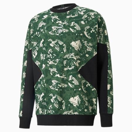 Man City TFS Herren Fußball-Sweatshirt mit Rundhalsausschnitt, Silver-Camo Green, small