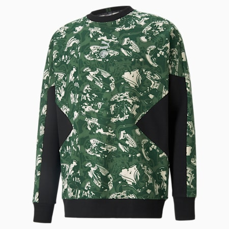 Man City TFS Crew Neck Men's Football Sweater, Silver-Camo Green, small-GBR