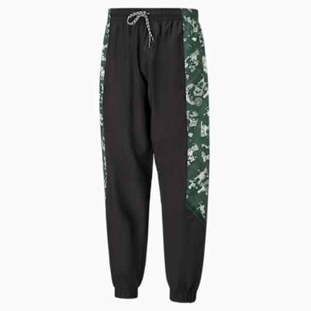 Manchester City FC TFS Men's Woven Pants, Silver-Camo Green, small-GBR
