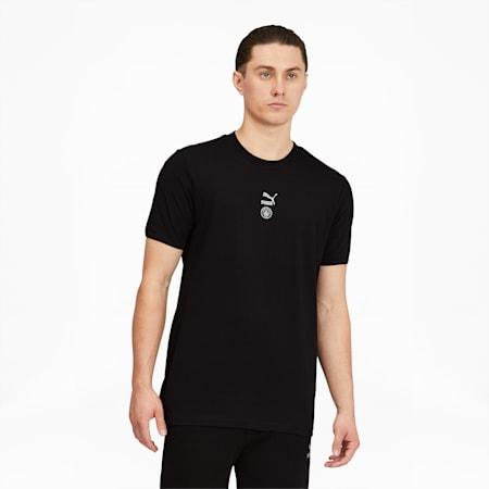 Camiseta Manchester City FC TFSpara hombre, Puma Black-Silver, pequeño