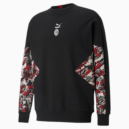 ACM TFS Crew Neck Men's Football Sweater, Tango Red -Puma Black, small