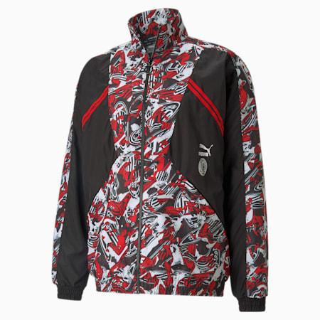 Chaqueta AC Milan Tailored for Sport para hombre, Tango Red -Puma Black, pequeño