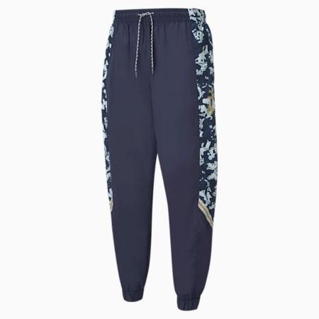Pantaloni da calcio in tessuto FIGC TFS uomo, Peacoat-Team Power Blue, small