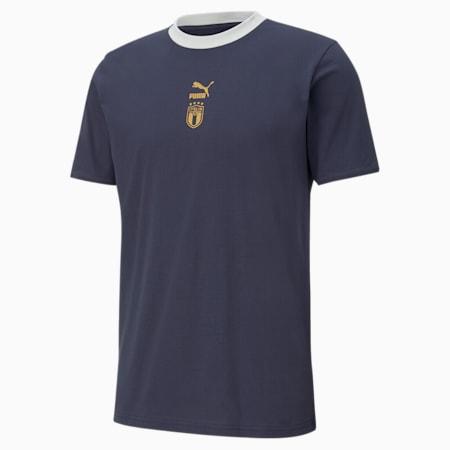 T-shirt da calcio FIGC TFS uomo, Peacoat-Team Power Blue, small