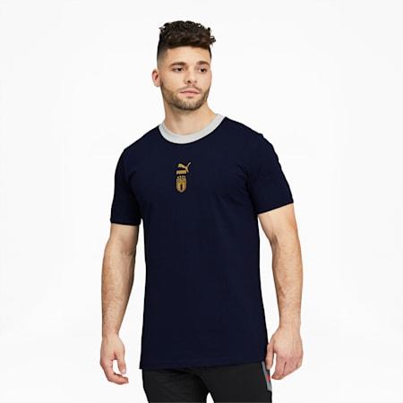 Camiseta de fútbolFIGC TFS para hombre, Peacoat-Team Power Blue, pequeño