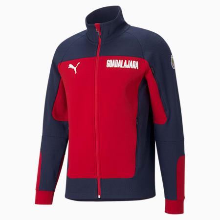 Chivas Evostripe Herren Fußball-Jacke, Peacoat-Tango Red, small