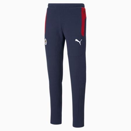 Chivas Evostripe Men's Football Pants, Peacoat-Tango Red, small