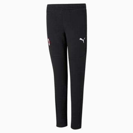 Pantalon de football ACM Evostripe enfant et adolescent, Puma Black-Tango Red, small