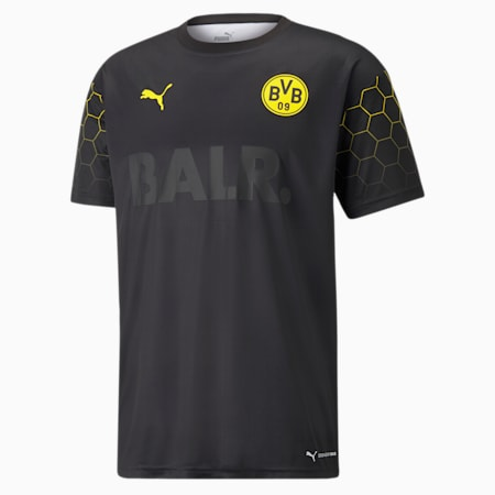 BVB x BALR Signature Men's Football Jersey, Puma Black-Cyber Yellow, small
