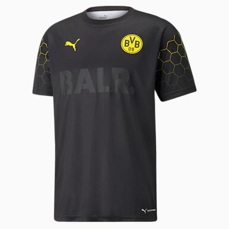 Męska koszulka piłkarska BVB x BALR Signature, Puma Black-Cyber Yellow, small