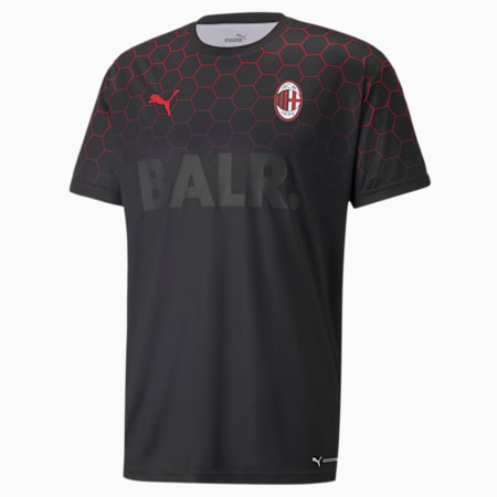 ACM x BALR Signature Men's Football Jersey, Puma Black-Tango Red, small