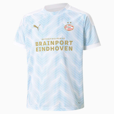 PSV Eindhoven Stadium Youth Jersey, Puma White-Team Light Blue, small