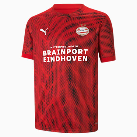 Camiseta de estadio del PSV Eindhoven juvenil, High Risk Red-Puma Red, small