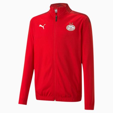 Chaqueta de fútbol de estadio del PSV Eindhoven juvenil, High Risk Red-Puma Red, small