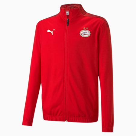 PSV Eindhoven Stadium Youth Football Jacket, High Risk Red-Puma Red, small