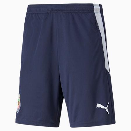 Shorts de fútbol de entrenamiento Chivas para hombre, Peacoat-Puma White, pequeño