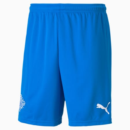 Shorts da calcio Islanda Replica uomo, Electric Blue Lemonade, small
