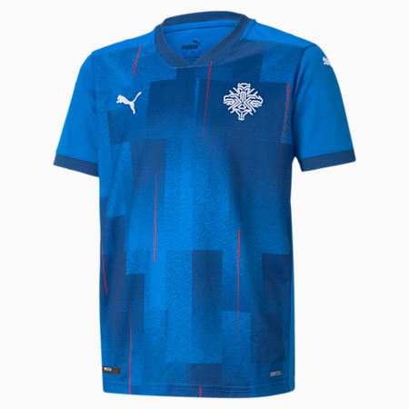 Iceland Home Replica Youth Jersey, Electric Blue Lemonade, small