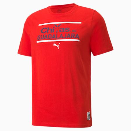 Camiseta de fútbol Chivas FtblCore para hombre, Puma Red-Peacoat, pequeño